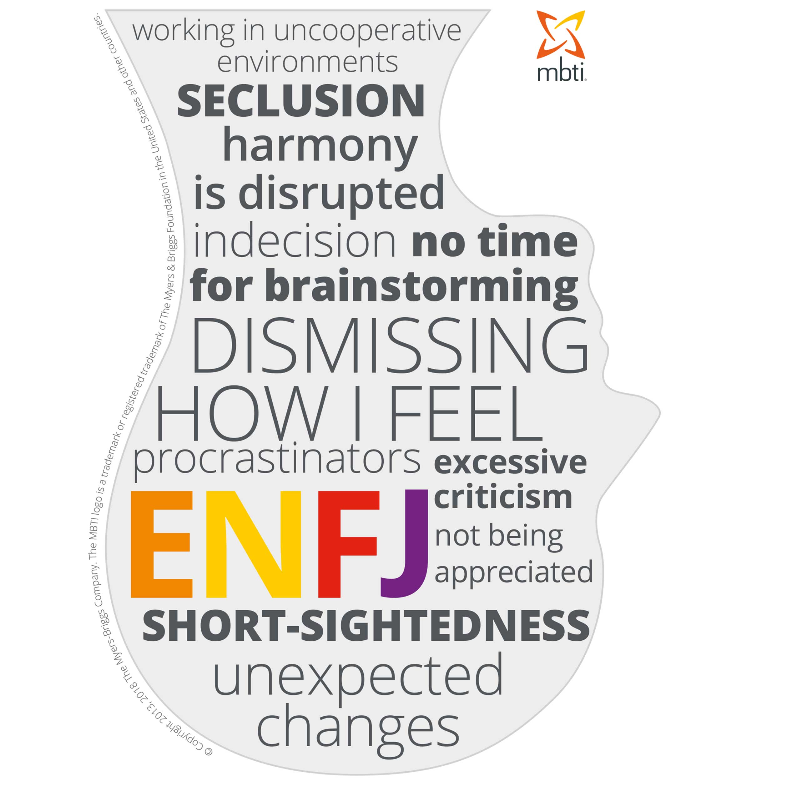 Typical stress triggers for ENFJs