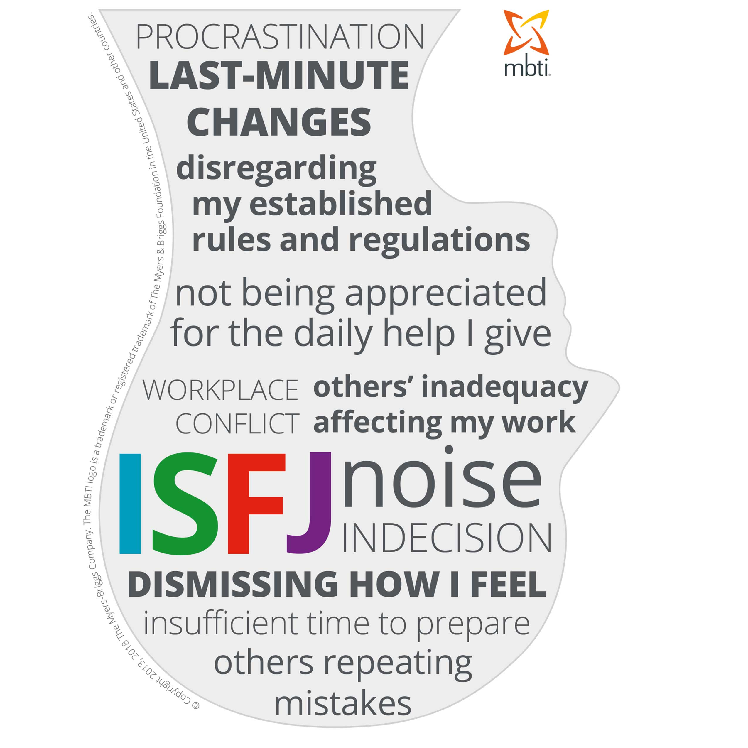 Typical stress triggers for ISFJs
