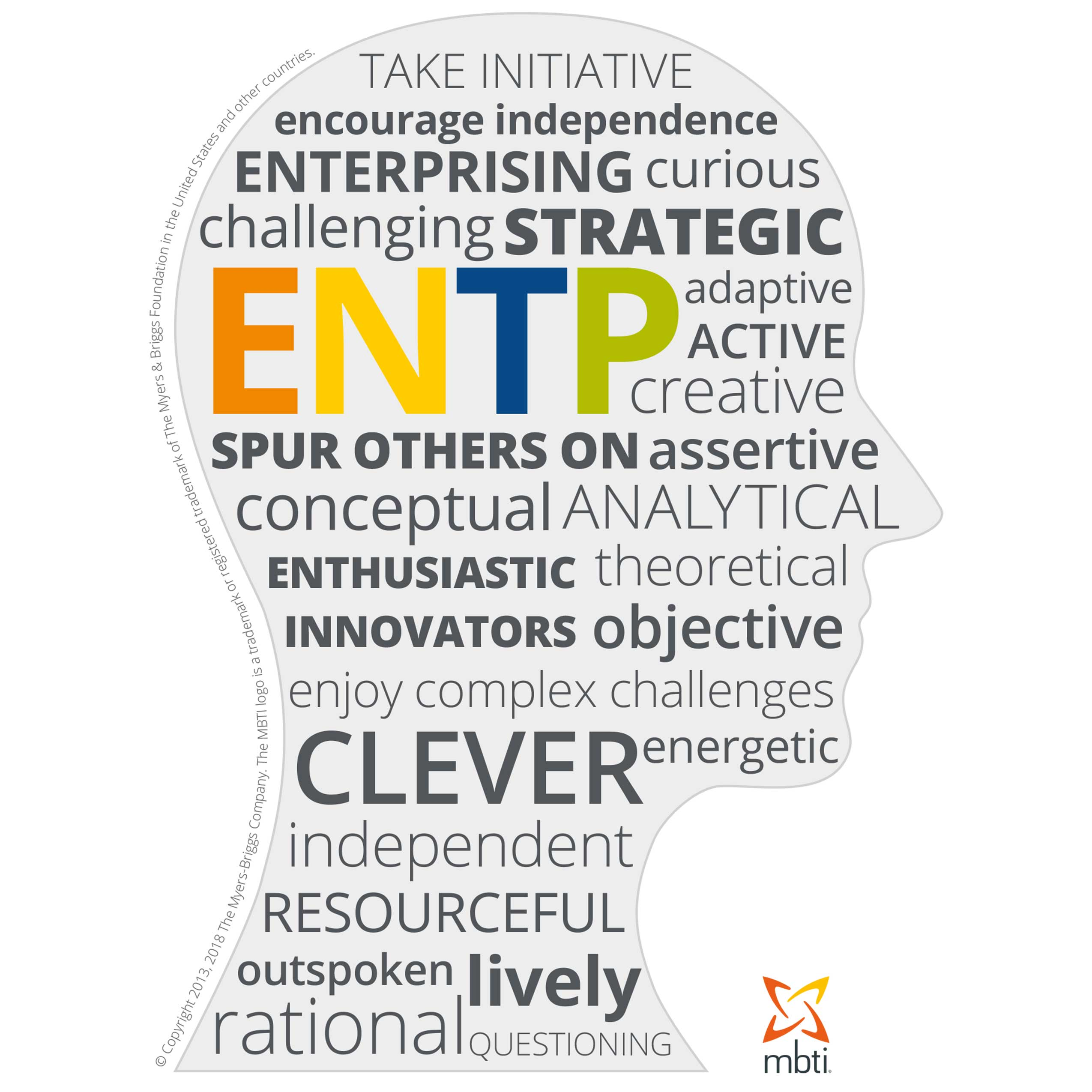 Typical characteristics of an ENTP
